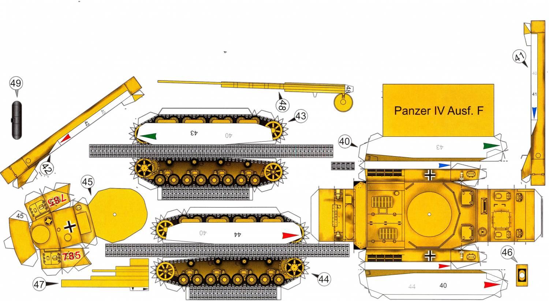 Поделки танков из бумаги схемы